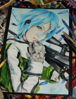 fanart sinon by juhei-art