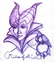 Mistress of All Evil by lafhaha