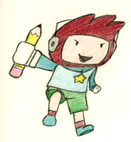 Maxwell the Scribblenaut by Cyber-Pixel