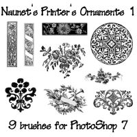 Naunet's Printers Ornaments 1 by sknaunet