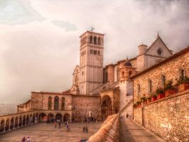 Sunset over Assisi by cortomaltese219