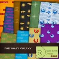 far away galaxy- paper street designs by paperstreetdesigns
