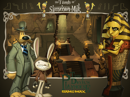 Sam and Max Tomb Wallpaper by Maleficent84
