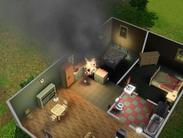 SIMS 3: Fire! by Aubergine-Jeri