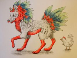 Haan the rooster by Sally-Ce