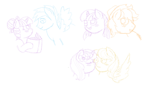 Twilight and Colt mane 6 ship doodles by Strawberry-Spritz