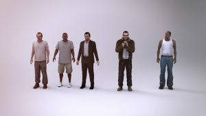 GTA Characters Legends by Binary-Map