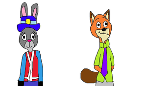 Nick Wilde and Judy Hopps - 2013 MM Style by MikeEddyAdmirer89