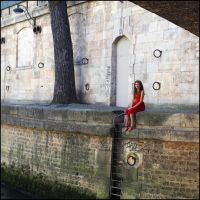 The girl in red by SUDOR