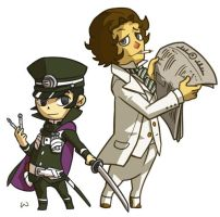 Phantom Hourglass Raidou by wredwrat