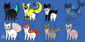 Sea-Creatures Adopts! - Name your Price [OPEN] by oOMintAdoptablesOo