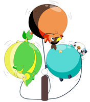 Unova Starters Inflated by selphy6