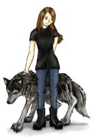 Wolf and Me by ravenescence