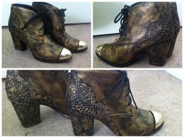 Steampunk Shoes by hankered-waistline
