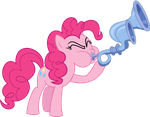 Pinkie pie with the Crystal Flugelhorn by MrCbleck