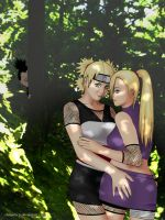 Ino and Temari: in the forest by ShinjiRHCP