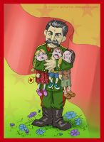 Uncle Stalin loves U children by Victoria-Poloniae