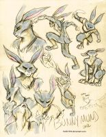 Bunnymund Sketches by Hahli1994