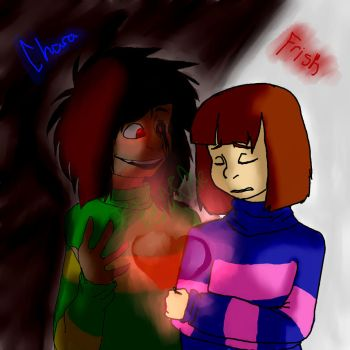 Chara and Frisk by TotallyLogical