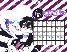 Calendario|Junio2014 by athenayabuki