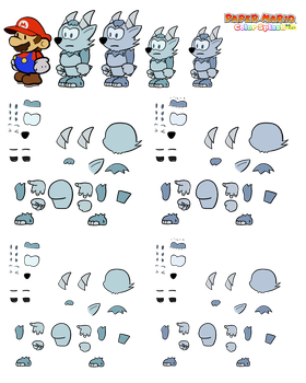 Vellbex v2 (Paper Mario Color Splash Recut) by DerekminyA