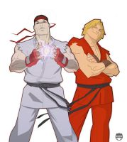 Ryu and Kenny boy by CoranKizerStone