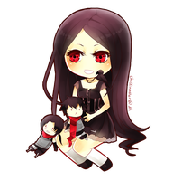 Chibi Commish: Amaterasu by chuwenjie