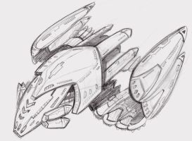 Star trek ship sketch by ninjha