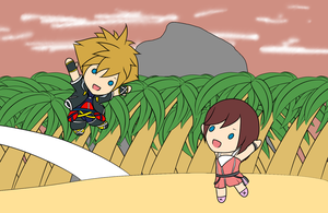 Chibi kingdom hearts by yamon-venzli