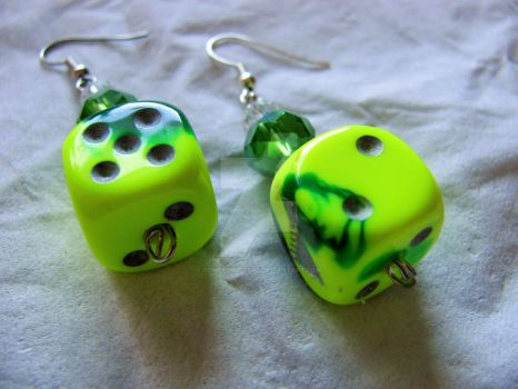 Catalyst, the game company dice earrings by SomethingTeal