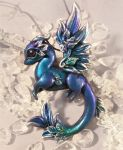 Winter rose dragon by AlviaAlcedo