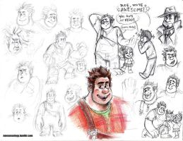 More Wreck-It Ralph fan-doodles by Naturally1nsane