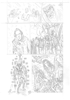 Iron Maiden page 19 pencils by DarrenEmond