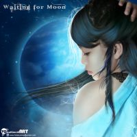 Waiting for Moon by vickyunderground83