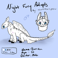 Night Fury Adopt #3 - CLOSED by therealtwilightstar
