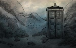 Tardis Sketch by Whisperwings
