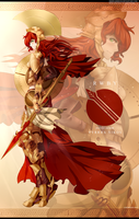 RWBY : Battle armor Pyrrha by dishwasher1910