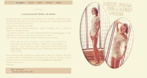 Blogspot template  Kobiecosc by MySensitiveHeart