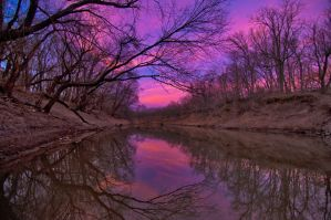 Caney River Sunset by Bvilleweatherman