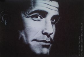 George Clooney - Ballpoint Pen by vitorjffg