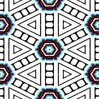 Blue and White Hexagon by Urceola