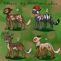 Christmas Cat Adopts - closed by Nahemii-chan