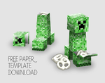 Minecraft Creeper Party Favor Box Visual How-to by Gaddia