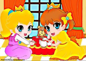 Baby Daisy-baby Peach:Tea time by Princesa-Daisy