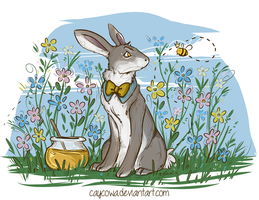 Spring Rabbit by caycowa
