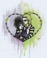 Beetlejuice and Lydia. by Frankienstein