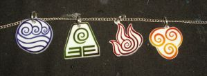 Avatar pendants by ykansaki