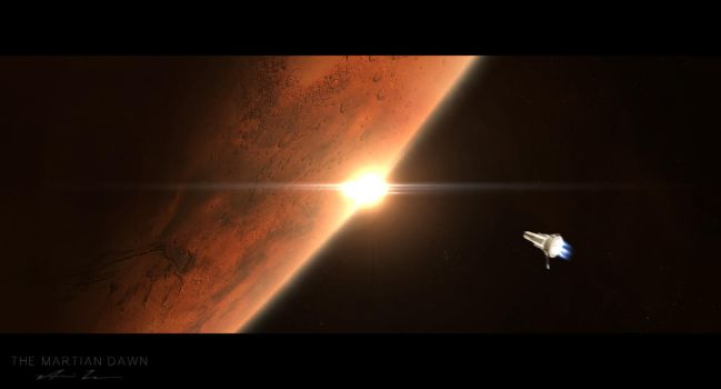 The Martian Dawn by v4nssi