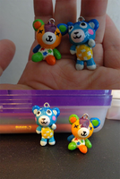 Stitches and Bluebear Charms by Kandifiedkitten