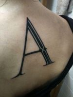 Letterform tattoo by allentattoo